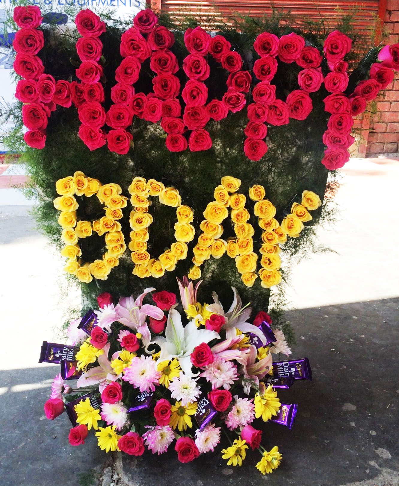 Happy birthday flower and chocolate bouquet happy birthday flower and chocolate bouquet izmirmasajfo